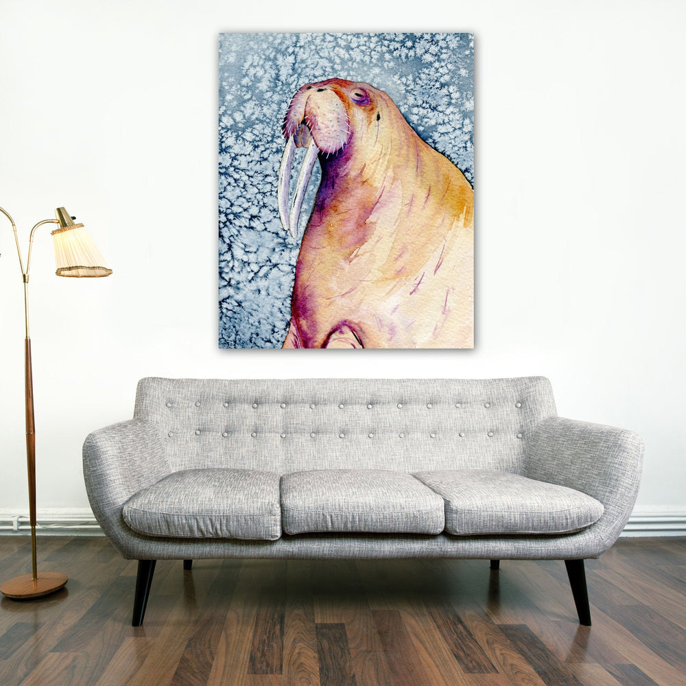 Walrus Watercolor Painting - Wildlife Marine Mammal - Art Print - Brazen Design Studio
