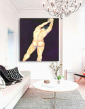 Watercolor Painting - Surrender Nude Male Figurative Art Print - Brazen Design Studio