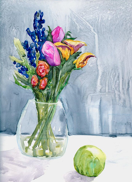 The Artist's Life - Original Watercolor Still Life Painting on Yupo