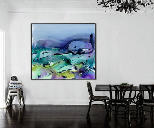 Art Print - Vineyards - Abstract Watercolor Painting