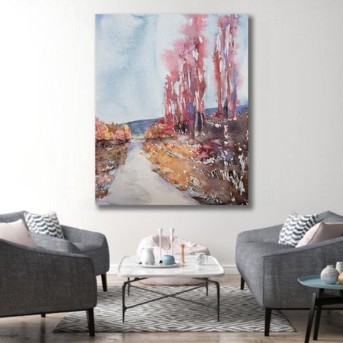 Wanderlust Watercolour Landscape Painting - Scenic Art Print