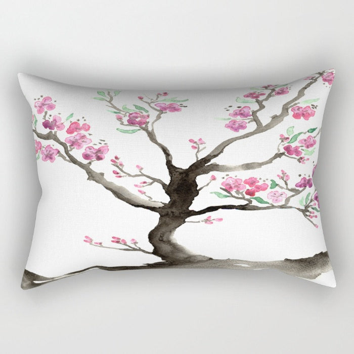 Decorative Pillow Cover - Sakura Tree - Woodland Decor - Throw Pillow Home Decor