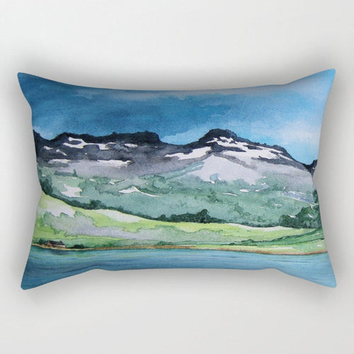 Decorative Pillow Cover - Mountain Painting - Throw Pillow Cushion - Home Decor - Brazen Design Studio