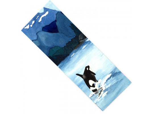 Yoga Mat Orca Breach Watercolor Painting - Exercise Mat - Brazen Design Studio
