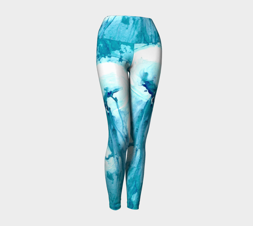 Designer Clothing - Jellyfish Painting - Artistic All Over Printed Leggings - Brazen Design Studio