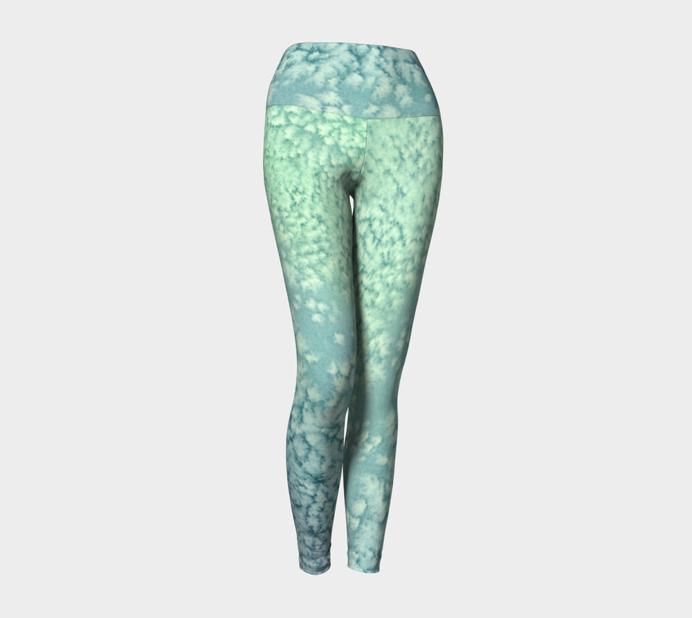 Designer Clothing - Ocean Water Painting - Artistic All Over Printed Leggings - Brazen Design Studio