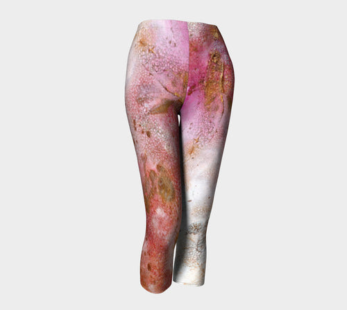 Designer Clothing - Floral Abstract Painting - Artistic All Over Printed Leggings - Brazen Design Studio