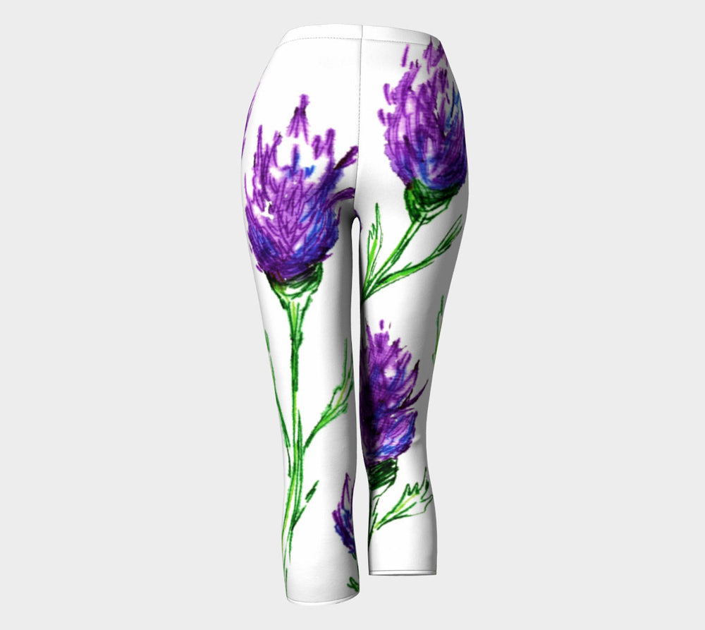 Designer Clothing - Floral Clover Painting - Artistic All Over Printed Leggings - Brazen Design Studio
