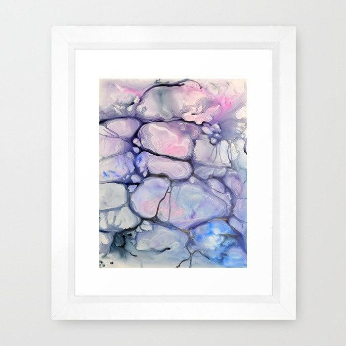 Abstract Art - Watercolor Painting - Violaceae Contemporary Art Print - Brazen Design Studio