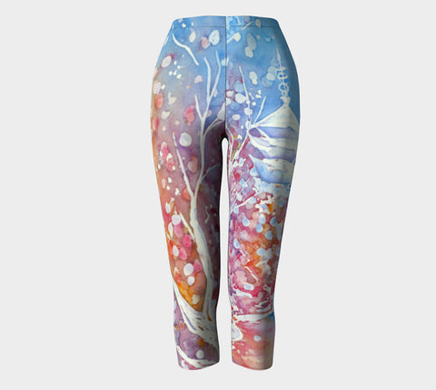 Designer Clothing - Sunflower Painting - Artistic All Over Printed Leggings