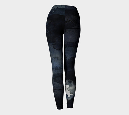 Designer Clothing -  Raven Painting - Artistic All Over Printed Leggings - Brazen Design Studio
