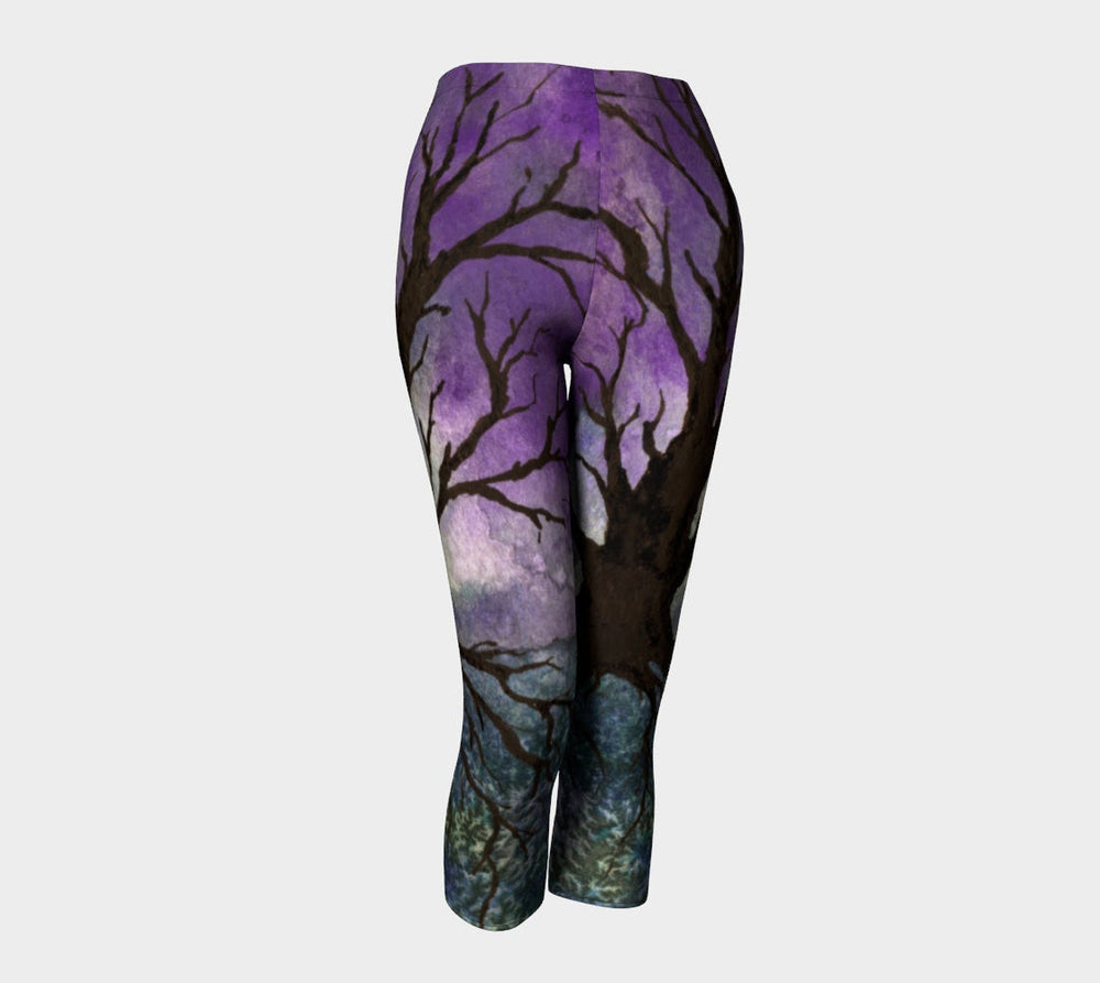 Designer Clothing - Tree of Life Painting - Artistic All Over Printed Leggings - Brazen Design Studio