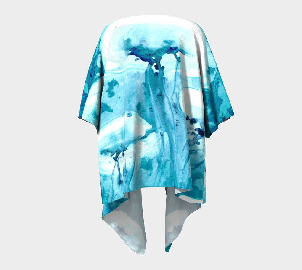 Draped Kimono - Jellyfish Watercolour Painting - Designer Clothing - Brazen Design Studio