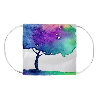 Hue Tree Watercolour Painting - Washable Reusable Fabric Face Mask