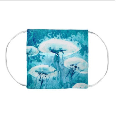 Jellyfish Sea Creature Watercolour Painting - Washable Reusable Fabric Face Mask