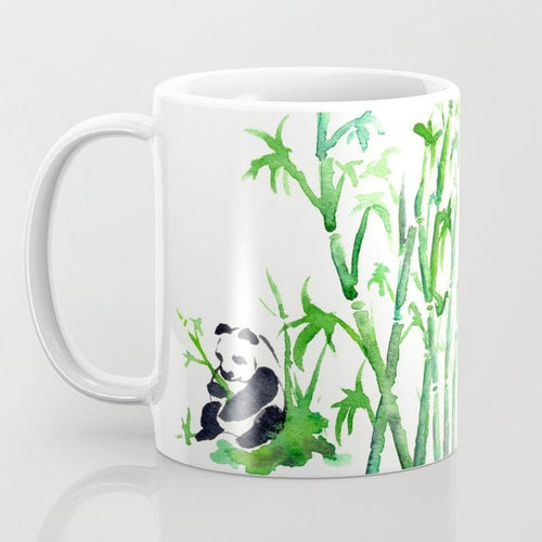 Artistic Panda Bamboo Coffee Mug - Kitchen Decor Mug Drinkware