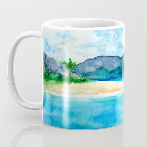 Artistic Caribbean Coffee Mug - Kitchen Decor Mug Drinkware