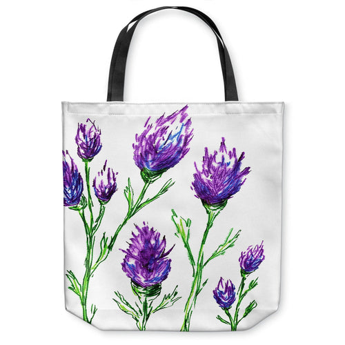 Clover Art Tote Bag -  Floral Watercolor Painting - Shopping Bag