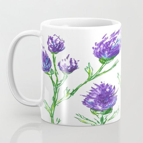 Artistic Clover Floral Coffee Mug - Kitchen Decor Mug Drinkware