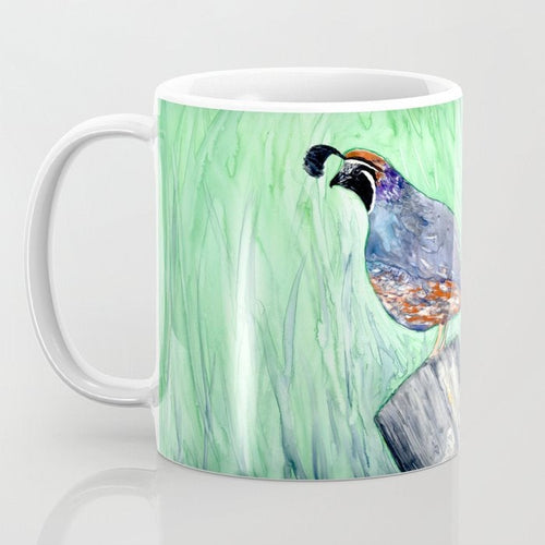 Artistic California Quail Bird Coffee Mug - Kitchen Decor Mug Drinkware