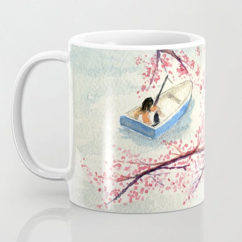 Artistic Gone Fishing Coffee Mug - Kitchen Decor Mug Drinkware