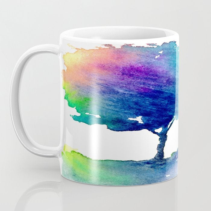 Artistic Hue Rainbow Tree Coffee Mug - Kitchen Decor Mug Drinkware