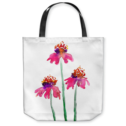 Echinacea Coneflowers Art Tote Bag -  Floral Watercolor Painting - Shopping Bag