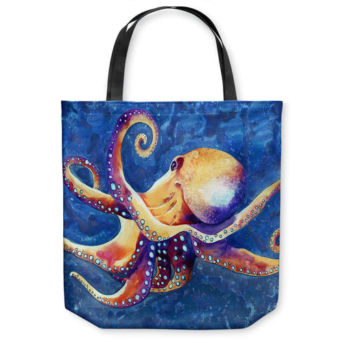 Octopus Ocean Wildlife Tote Bag - Watercolor Painting - Shopping Bag