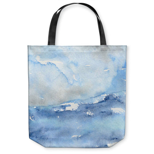 Ocean Wave Tote Bag - Water Watercolor Painting - Shopping Bag