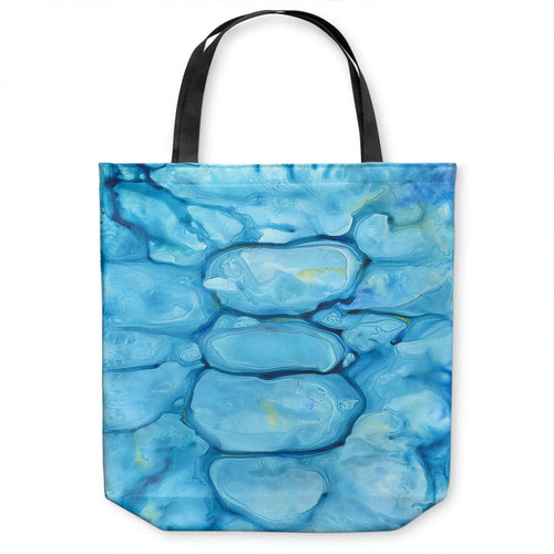 Blue Abstract Tote Bag - Water Watercolor Painting - Shopping Bag