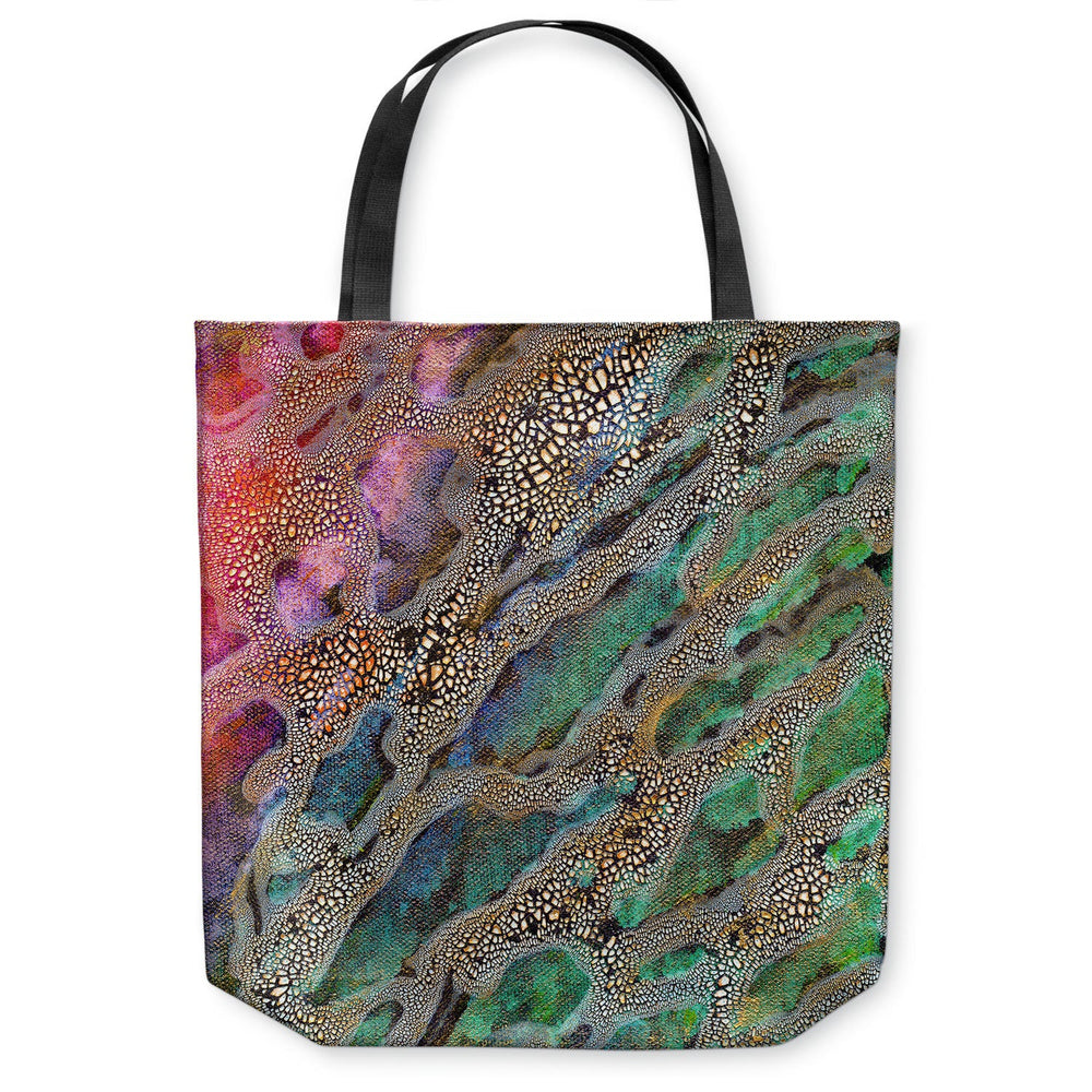 Omicron Abstract Tote Bag - Water Watercolor Painting - Shopping Bag