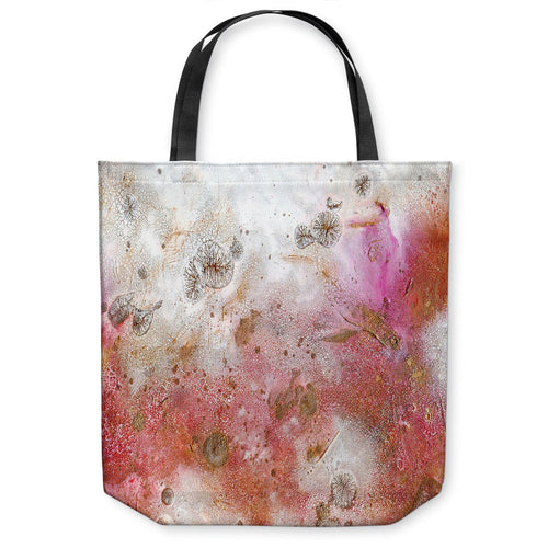 Pink Abstract Tote Bag - Water Watercolor Painting - Shopping Bag