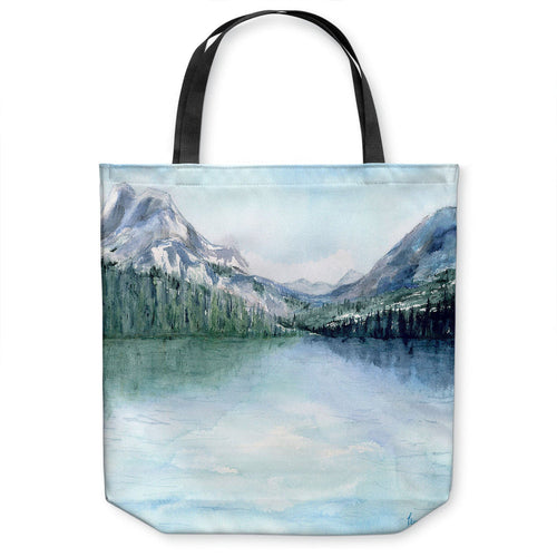 Misty Mountains Tote Bag - Watercolor Painting - Shopping Bag