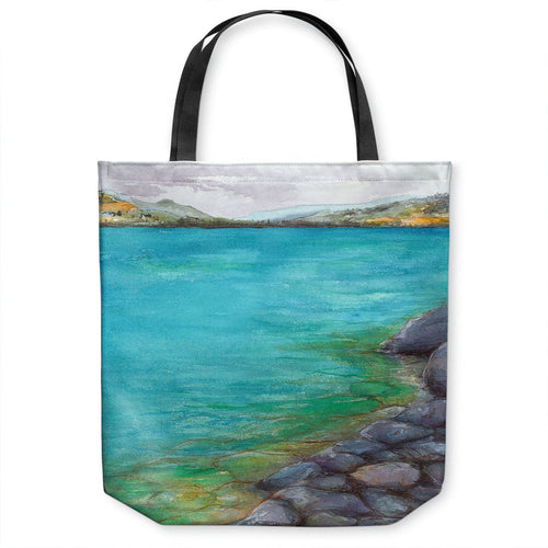 Kalamalka Lake Tote Bag - Watercolor Painting - Shopping Bag