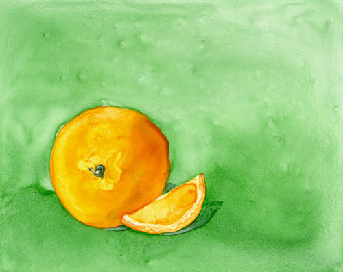 Still Life Watercolour Painting - Orange - Still Life Food - Kitchen Decor - Giclee Print - Brazen Design Studio