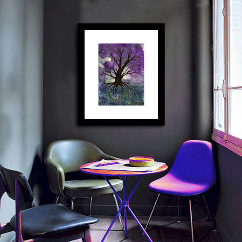 Art Print - Gothic Tree of Life Landscape - Watercolor Painting - Brazen Design Studio