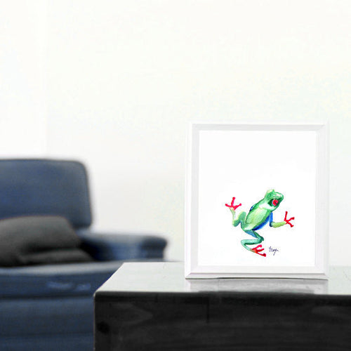 Tree Frog Art Japanese Brush Painting Art Print - Brazen Design Studio