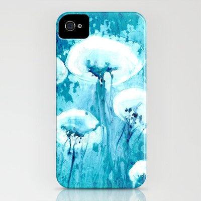 Floral iPhone 7 Case Dandelion Wishes Painting - Cell Phone Cover - Designer iPhone Samsung Case