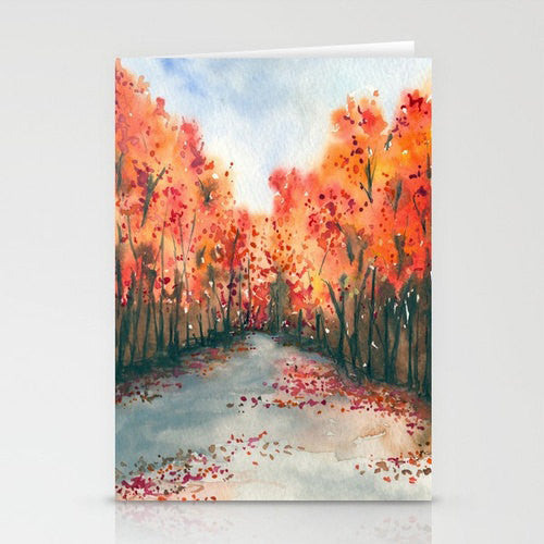 Greeting Card Autumn Landscape Painting Reproduction Art Card - Brazen Design Studio