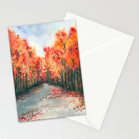 Mid Winter Landscape Painting Art Card