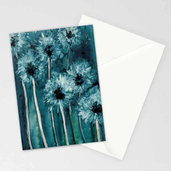 Greeting Card Dandelions - Floral Botanical Watercolor Painting Art Card - Brazen Design Studio