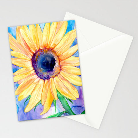 Dandelion Wishes - Floral Botanical Watercolor Painting Art Card