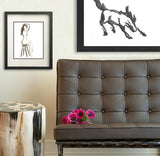 Sultry Female Figurative Sumi-e - Japanese Brush Painting Art Print - Brazen Design Studio