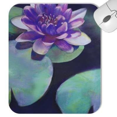 Mousepad - Lotus Lilypad Painting - Art for Home or Office - Brazen Design Studio