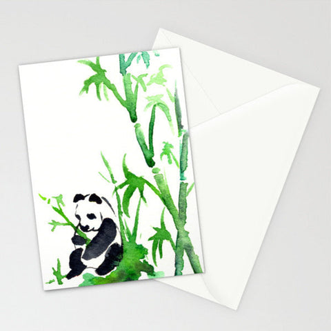 Yellow Wagtail Wildlife Bird Sumi-e - Art Card