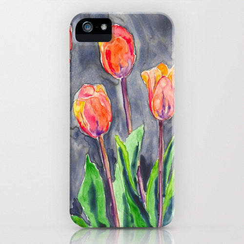 Floral Phone Case   Orange Tulips Case   Floral...
