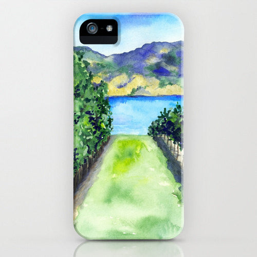 Vineyard Phone Case   Winery Landscape Painting...