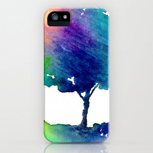 Watercolor Phone Case - Hue Tree Painting - Cell Phone Cover - Designer iPhone Samsung Case - Brazen Design Studio