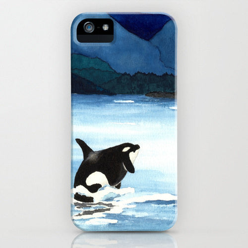 Orca Phone Case   Killer Whale Painting  ...