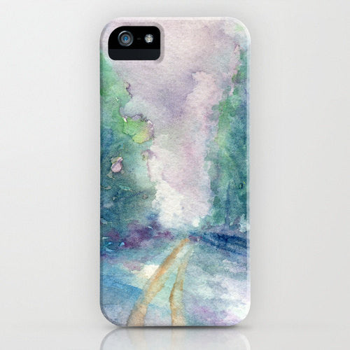 Watercolor Phone Case - Haunted Lane - Impressionist - Designer iPhone Samsung Case - Brazen Design Studio